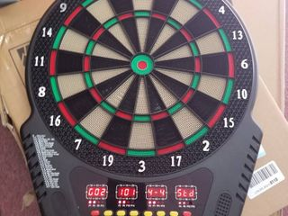 Biange Electronic Dart Board  Digital Soft Tip Dart Boards  Dartboard Set 13 5a Target Area  27 Games and 243 Variants with 6 18g Darts  4 lED Displays  100 Tips  Flights  Support 16 Players