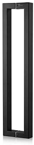 TOGU TG R3825 18 inches Solid Standoffs Heavy Duty Commercial Grade 304 Stainless Steel Push Pull Door Handle Barn Door Pull Handle Glass Pulls  Matte Black Finish