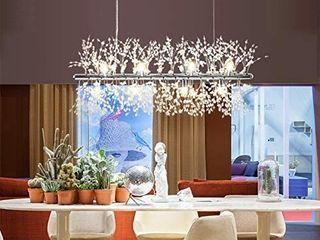 Ganeed Firework Chandeliers Modern lED Crystal Pendant lights 9 light Stainless Steel Chandelier lighting