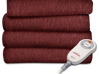 Sunbeam Electric Heated Fleece Throw  60 x 50 Inches