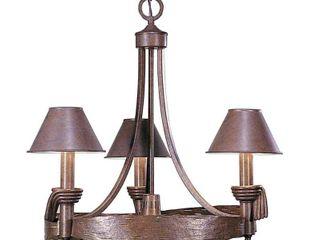 Volume lighting V7904 66 3 light Chandelier  Prairie Rock Gold