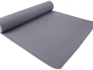 HCM Yoga Mat Fitness   Exercise Mat with Easy Cinch with Carrying Strap  70  l x 24  W x 4 MM Thick