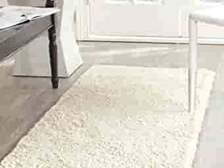 Safavieh California Premium Shag Collection SG151 2 inch Thick Accent Rug  2 3  x 5  Ivory