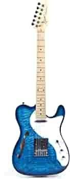 Grote Electric Guitar Semi Hollow Body Single F Hole  Blue