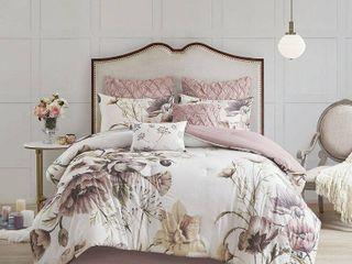 Madison Park Cassandra Queen 8 Pc  Cotton Printed Comforter Set Bedding
