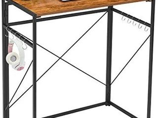 Mr IRONSTONE 31 5a Folding Computer Desk  High Table Standing Desk Workstation Easy Assembly Small Bar Table for Pub Dining Coffee Kitchen Narrow Space  Vintage