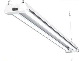 Sunco lighting 1 Pack 4ft 48 Inch lED Utility Shop light 40W  260W Equivalent  4000K Kelvin Cool White  4100 lumens  Double Integrated linkable Garage Ceiling Fixture  Clear lens   Energy Star   ETl