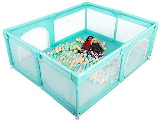 Baby Playpen  Extra large Playard for Toddlers  29  sq  Ft Play Area  Kids Safety Play Yard   Activity Center  large Ball Pit for Indoor   Outdoor  Portable Anti Fall Play Pen for Infants  Green