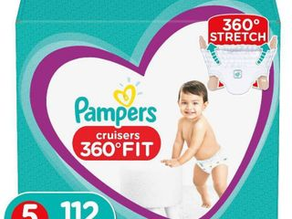 Pampers Cruisers 360 Disposable Diapers One Month Supply   Size 5  112ct