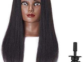 Hairingrid Mannequin Head 20 22 100  Human Hair Hairdresser Cosmetology Mannequin Manikin Training Head Hair and Free Clamp Holder