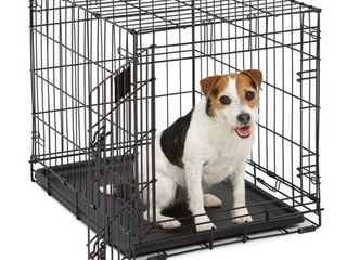 Midwest life Stages Single Door Folding Metal Dog Crate  24 inches by 18 inches by 21 inches