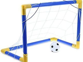 Candora Mini SocCandora Mini Soccer Goal Post Net Set with Pump Kids Sport Toy Easy Fold Up  17 7inx13inx10 6in