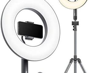 TaoTronics 14  Selfie Ring light with Tripod Stand 78  2 Phone Holders  36W 6500K Dimmable lED Camera Ringlight for live Stream Makeup YouTube Video Photography TikTok  USB Charging  Remote Control