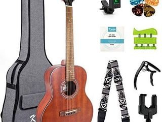 Visit the Kmise Store 4 5 out of 5 stars 429Reviews Kmise 38  Beginner Acoustic Guitar 6 Metal Strings Mahogany Top Guitar Starter Kit with carring bag tuner strap capo hook hanger hand exerciser picks and replacement strings  38 inch