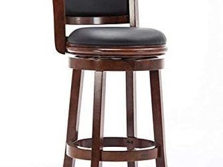 Boraam Augusta Bar Height Swivel Stool  29 Inch  Cherry