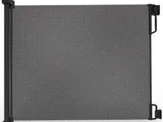 Perma Outdoor Retractable Gate  Extra Wide 71 in  Black