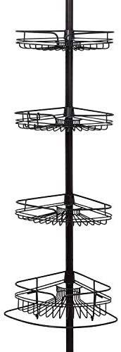 Zenna Home Shower Tension Pole Caddy  Bronze