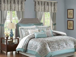 Teal Isabella Room in a Bag  Queen  24pc