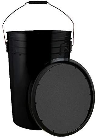 Champion Sports Baseball Bucket With Soft Seat lid  Black