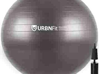 Amazonbasics Balance Ball With Foot Pump  65cm  Grey