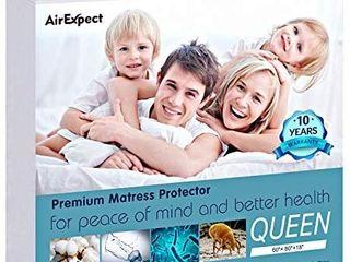 Waterproof Mattress Protector Queen Size Premium Cotton Hypoallergenic Mattress Pad Cover  Deep Pocket  No Vinyl   60 x80 Inches queen
