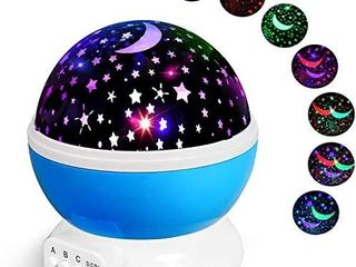 Alenbrathy Night light lamp  Star Projector Romantic lED Night light 360 Degree Rotation 4 lED Bulbs 9 light Color Changing with USB Cable for Birthday Parties Kids Bedroom Or Christmas Gift