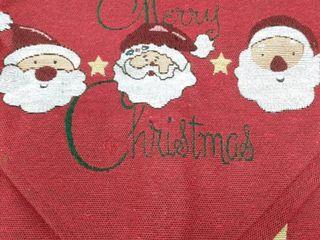 Santa Merry Christmas table runner
