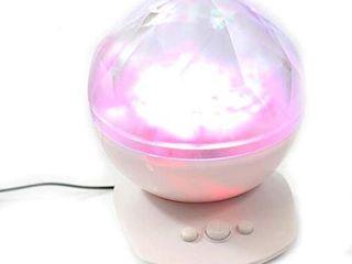 PowerTRC Aurora Borealis Projector  Color Changing led Night light lamp  White
