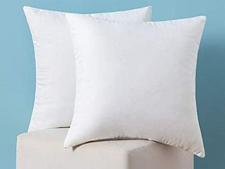 Set of 2 Throw Pillow Inserts Hypoallergenic Premium Pillow Stuffer Square Form for Decorative Cushion Bed Couch Sofa 18x18 inches