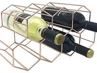 Wine Rack Countertop  9 Bottle Gold Honeycomb Freestanding Tabletop Bottle Holder for Wine Storage Freestanding Countertop Wine Rack for Cabinets  Kitchen  Wine Cellar Bar