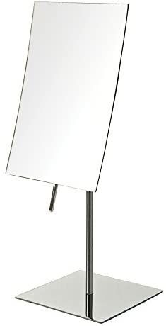 5 Inch by 8 Inch Rectangular Vanity Mirror with 3x Magnification  Stainless Steel Fininish