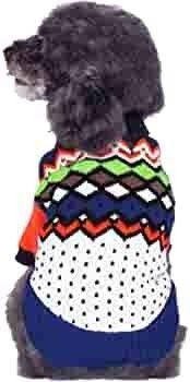 Blueberry Pet 6 Patterns Fall   Winter Chic Interlock Dog Sweater