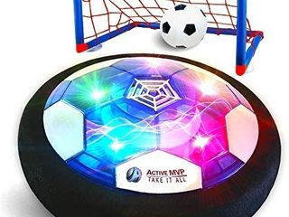 ActiveMVP Kids Toys Rechargeable Hover Soccer Ball Set with 2 Goals  Indoor lED light Up Fun Air Soccer Game