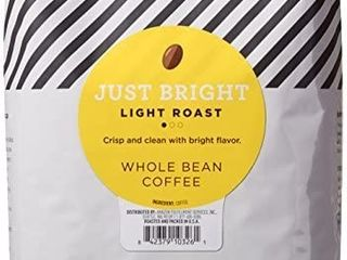 Amazonfresh Just Bright Whole Bean Coffee  light Roast  32 Ounce  pack Of 1