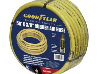 Goodyear EP 46505 3 8 Inch by 50 Feet 250 PSI Rubber Air Hose with 1 4 Inch MNPT Ends and Bend Restrictors