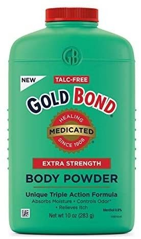 Gold Bond Medicated Talc Free Extra Strength Body Powder 10 oz  Cooling  Absorbing   Itch Relief