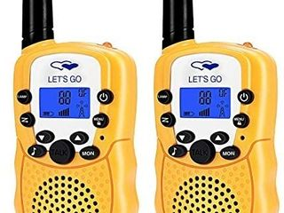 ATOPDREAM for 4 5 Year Old Boys  Two Way Radio long Range Walkies Talkies for Kids Fun Popular Outdoor Toys for Birthday Gifts Presents for Boys Age 3 12 Yellow FDWT003