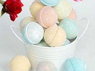 SPlENDEUR Bucket O  12 lUSCIOUS Bath Bomb Fizzes  Wrapped 2  Diameter  Pamper You or Gift  Birthdays Spa  USA Handmade Skin Moisturizer Organic NATURAl SHEA Butter