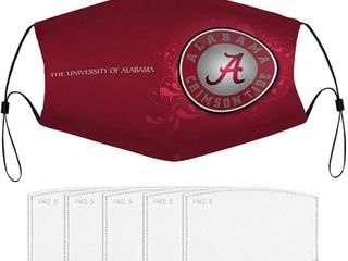 Alabama Face Mask University Team logo Washable Reusable Adjustable Half Face Mouth  Outdoor dust Masks with 2 filters see pictures for exact design