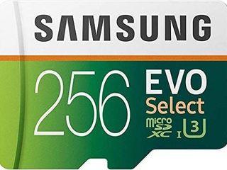 Samsung Electronics EVO Select 256GB MicroSDXC UHS I U3 100MB s Full HD   4K UHD Memory Card with Adapter