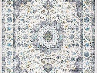 nulOOM Paisley Verona Vintage Persian Accent Rug  2  x 3  Grey