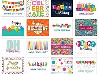 48 Birthday Card Assorted Pack   16 Unique Assorted Designs Blank Cards   Bulk Boxed Set  48 Card