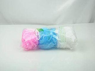 Bath Sponge Swirl Set 35g  3 Pack Color Swirls loofah  35g