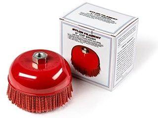 6  Cup Brush  Nylon Filament  5 8 11 Thread  2500 max RPM