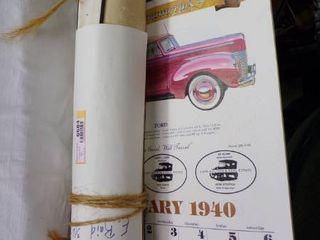 RAID S BRO S QUARRIES CAlENDARS FROM 1957 1976   1940 CAR CAlENDAR