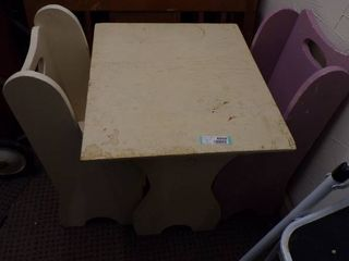 CHIlD S TABlE AND 2 CHAIRS