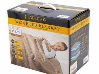 Pendleton Glass Micro Beads Weighted Blanket 48  x 72  15lbs  Beige   NEW