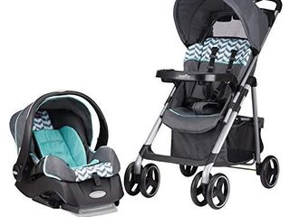 Evenflo Vive Travel System with Embrace Infant Car Seat  Spearmint Spree