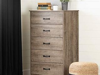 South Shore Tassio 5 Drawer Chest Weathered Oak