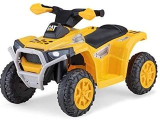 Kid Trax CAT Toddler Quad Ride On Toy  6 Volt Battery  1 5 3 Years Old  Max Weight 44 lbs  Single Seater  Yellow  KT1575AZ